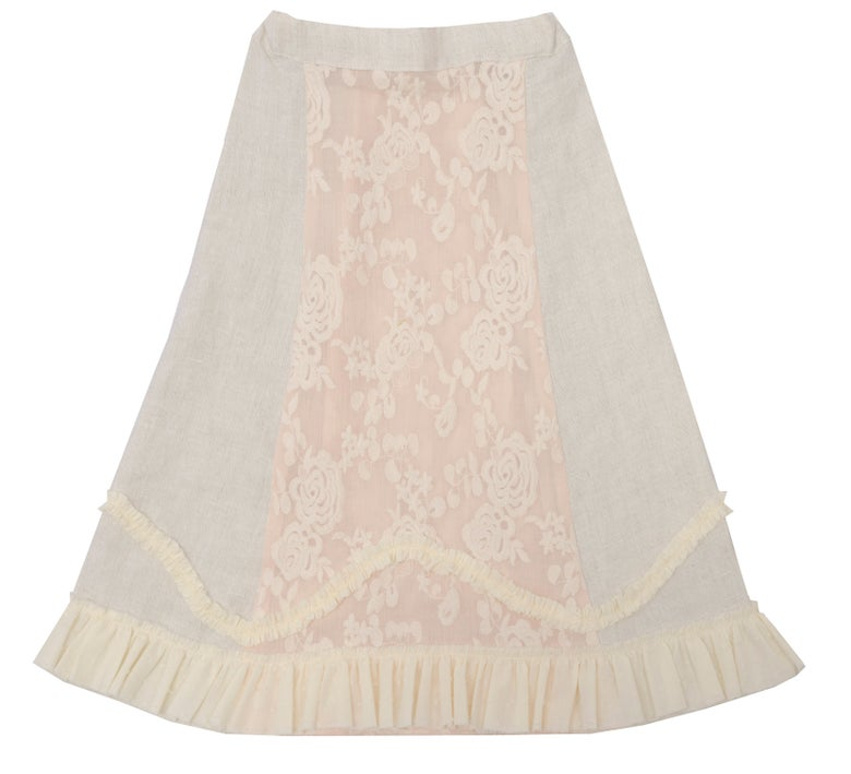 Image of MAXI SKIRT off white
