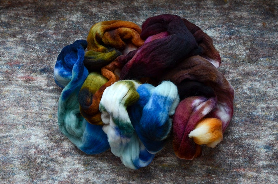 "Image of ""Haply"" Rambouillet Spinning Fiber - 4 oz."