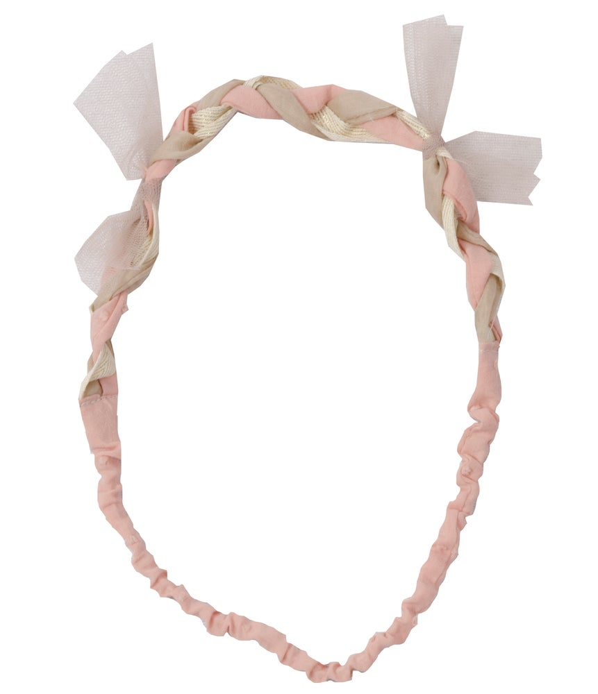 Image of pleated HEADBAND rose