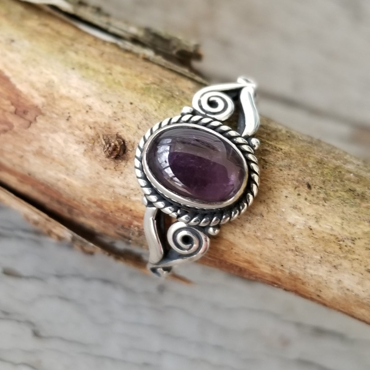 Image of February Florals - Amethyst Rings in Sterling