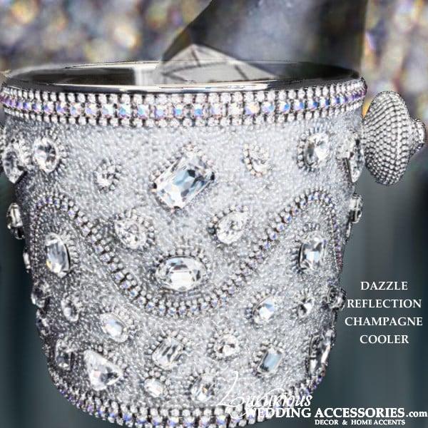 Image of Dazzle Swarovski Clear Swarovski Crystal Champagne Cooler