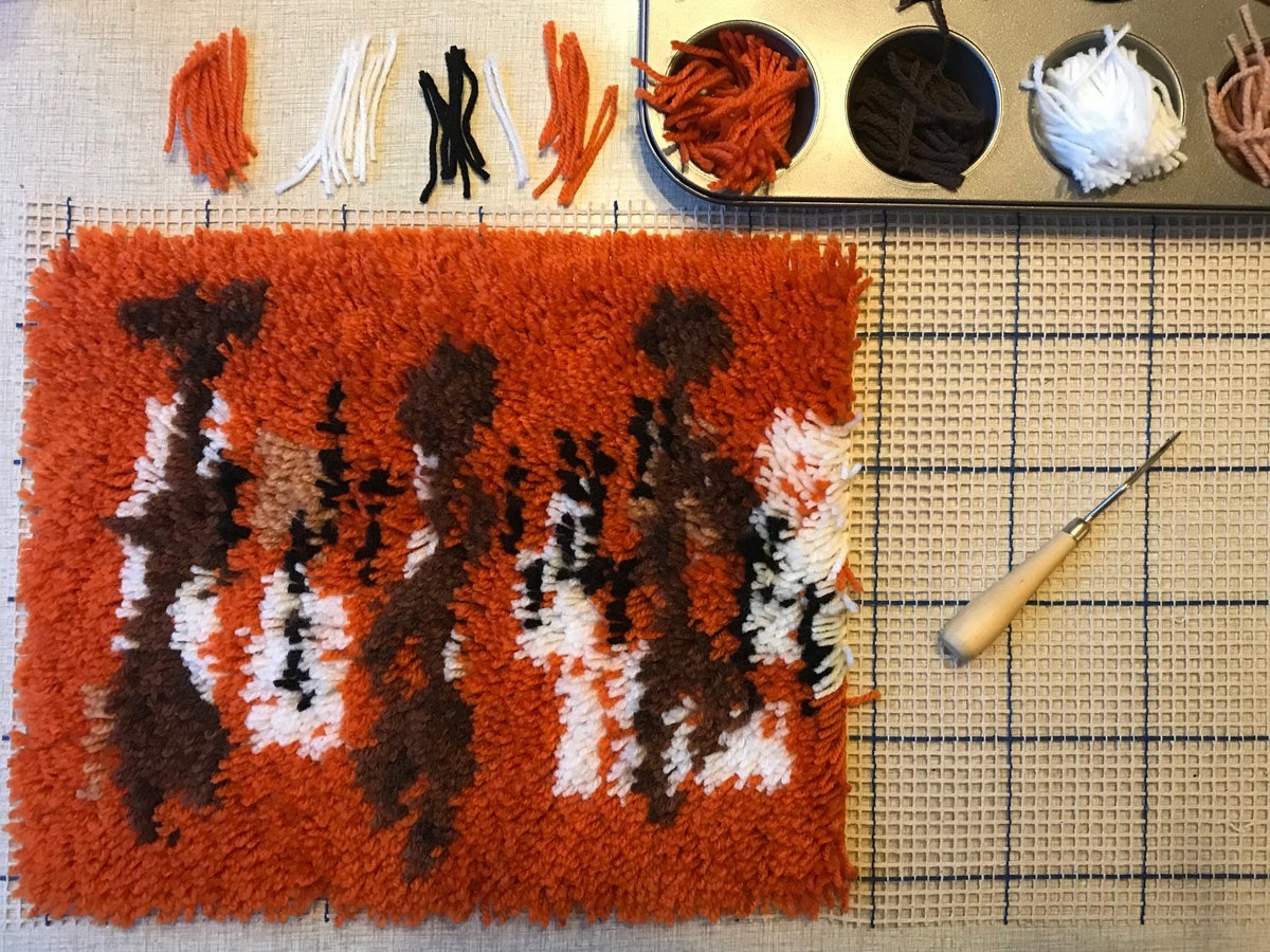 WITCO FIRE DANCERS Complete Latch Hook Rug Kit
