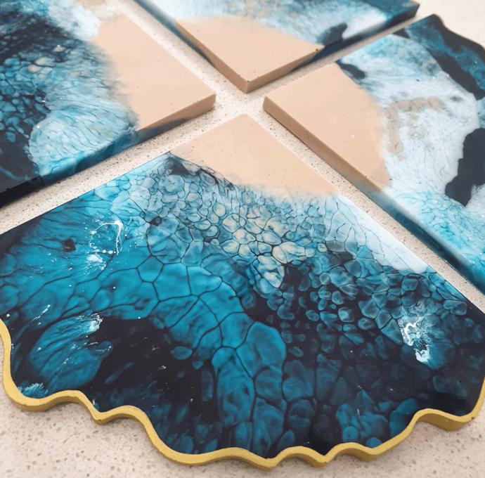 Image of Pre-Order - Ocean Geode Coasters