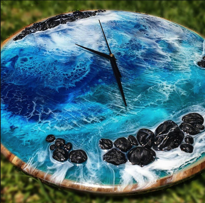 Image of Pre-order - 'Portal to the Ocean' realistic beach-scape Clock
