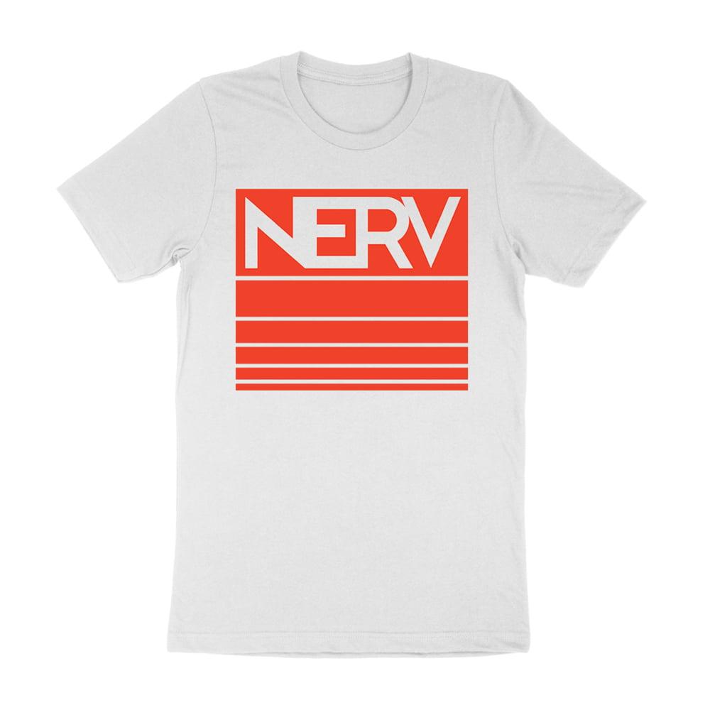 CLEARANCE! White Stripe Logo T-Shirt