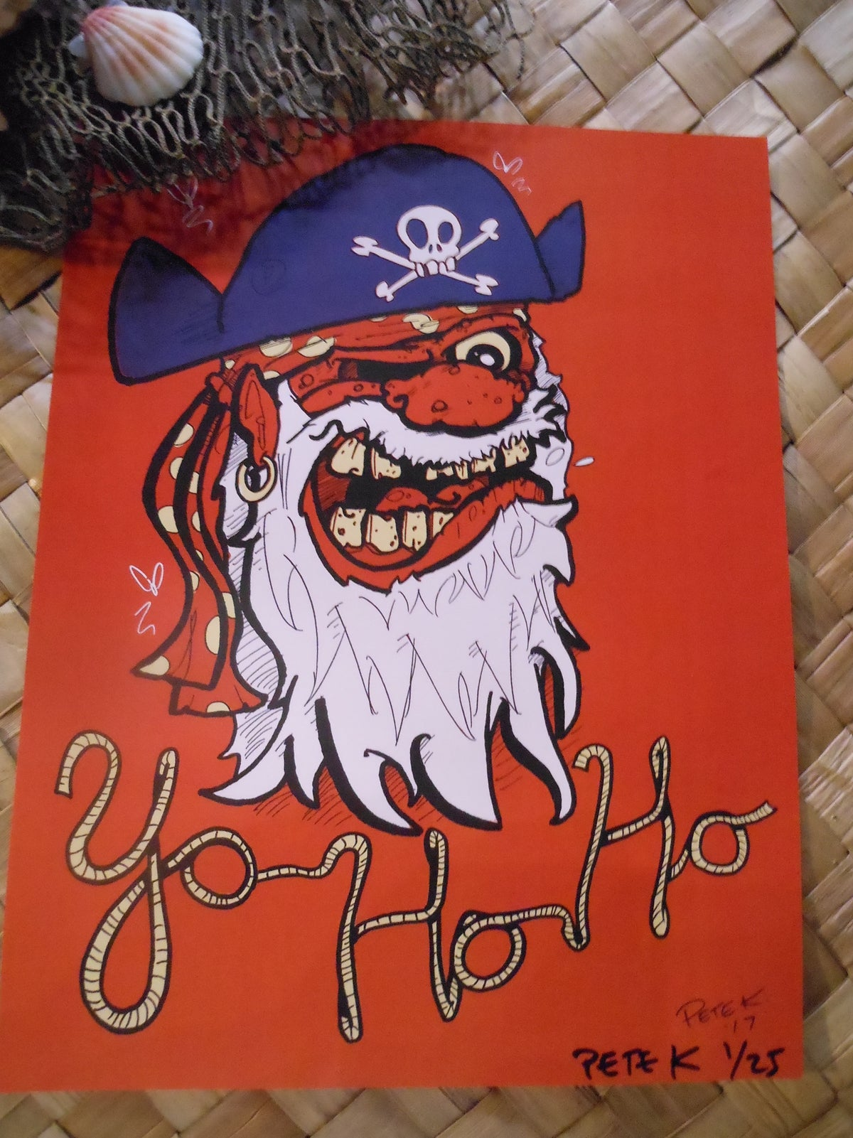 """YO HO HO! Rum Pirate 8.5"""" x 11"""" Limited Edition Signed/Numbered Digital Print"""