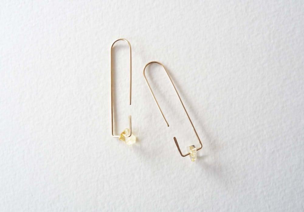 Image of One citrine earrings