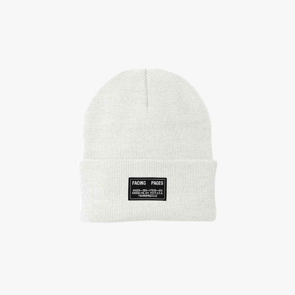 Image of KNIT CAP BEANIE, WHITE