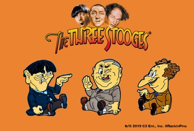 Image of The Three Stooges - Cartoon Enamel Pin Set
