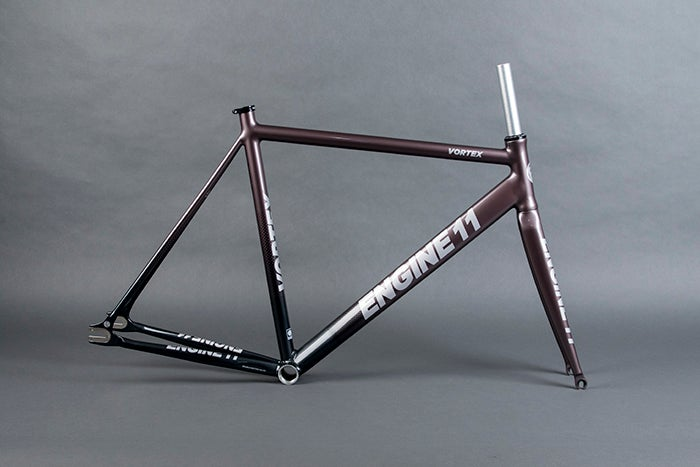Image of 2020 E11 Vortex frameset in Dark Gray color way.