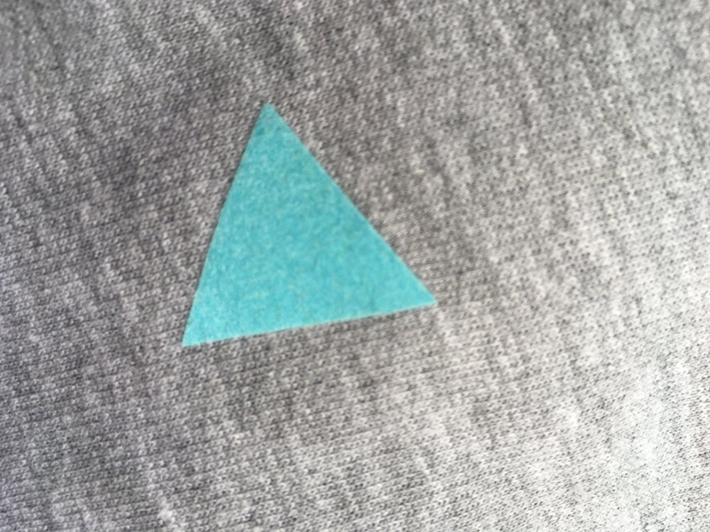 Image of Shirt navy triangle adults/ round neck