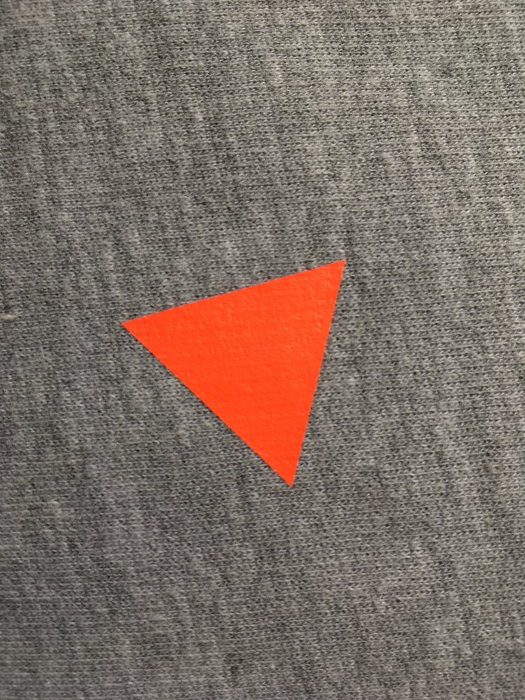 Image of T-Shirt Triangle navy ADULTS/ V neck