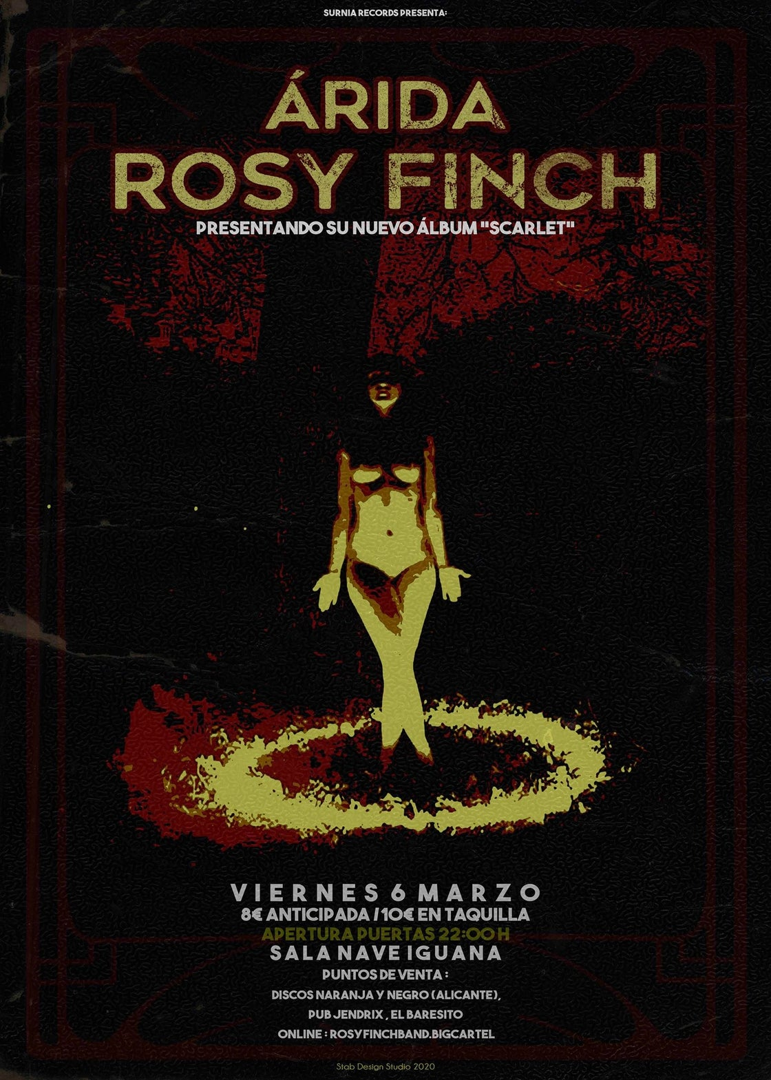 Image of Rosy Finch / Árida Ticket Show