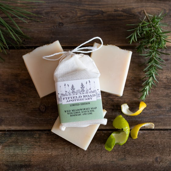 Image of Wild Meadowsweet Soap with Lemon, Scotch Pine, Rosemary and Lime