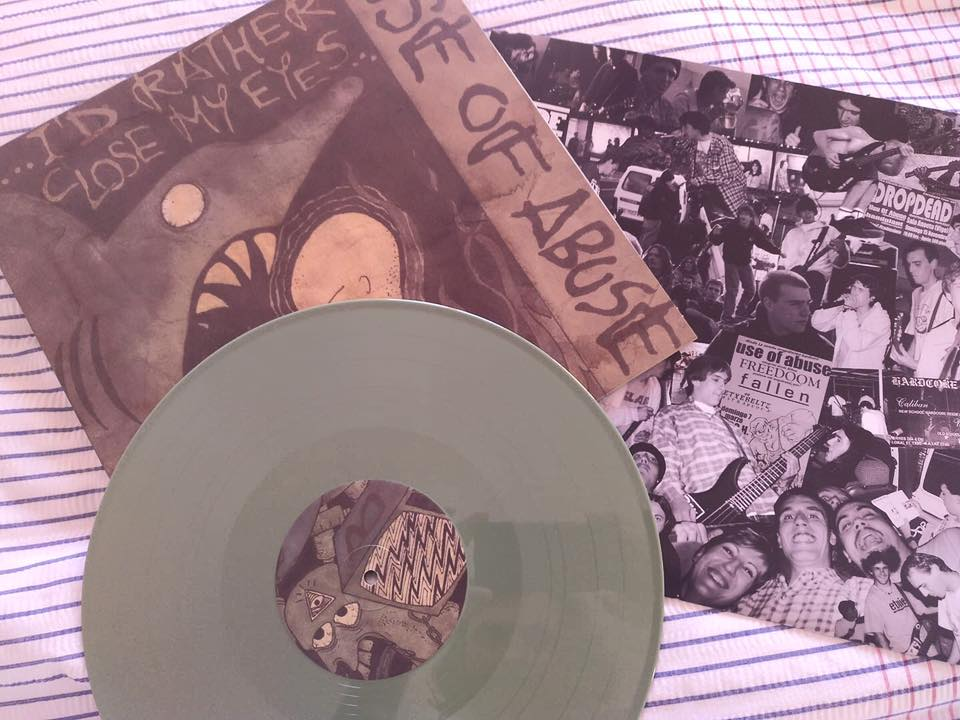 "Image of LADV134 - USE OF ABUSE ""...I'd rather close my eyes"" 12"" REISSUE"
