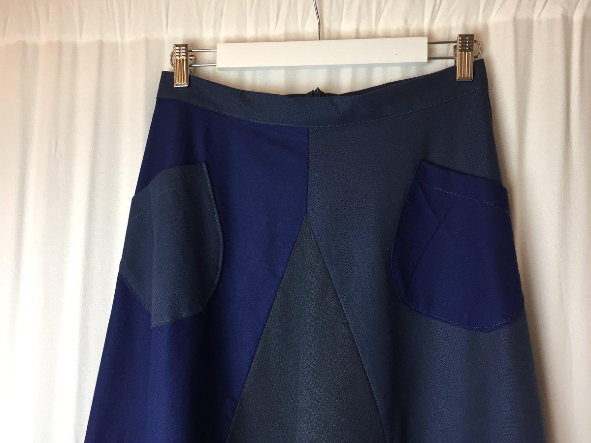 Image of BLUE FRANCH SKIRT