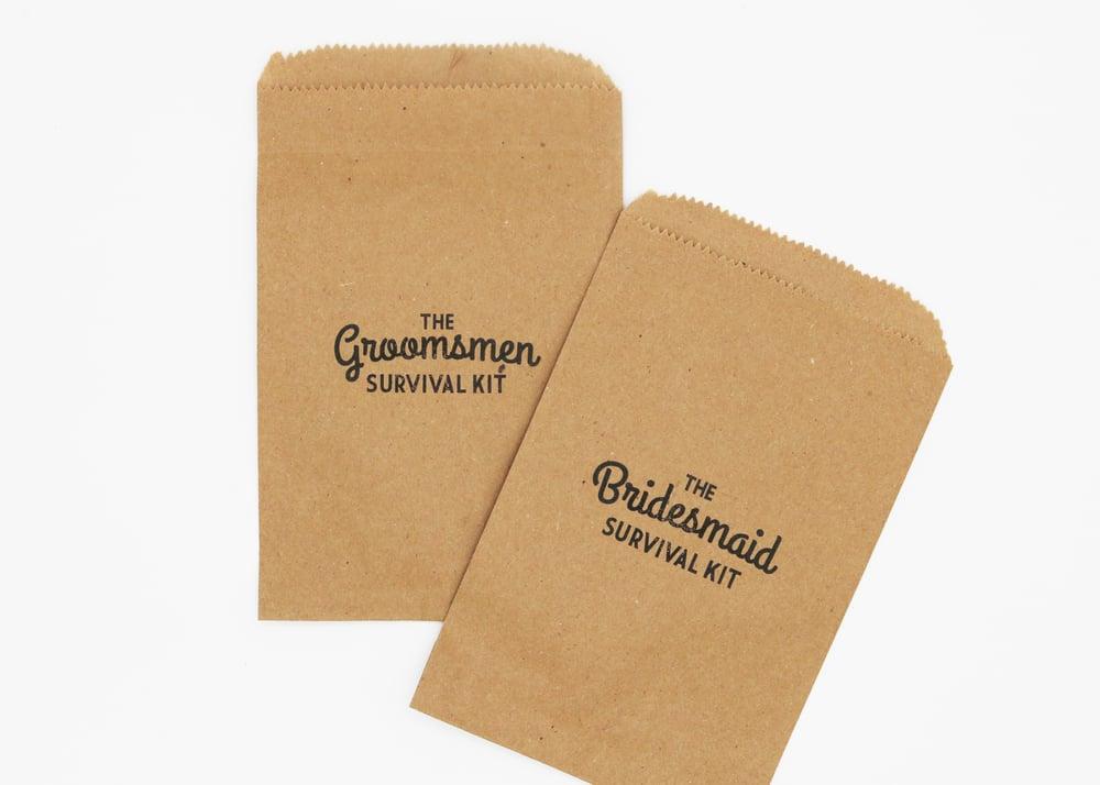 Image of The Groomsmen Paper Bag Survival Kit
