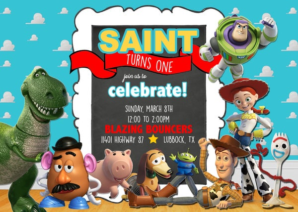 Image of Toy Story Birthday Invitation