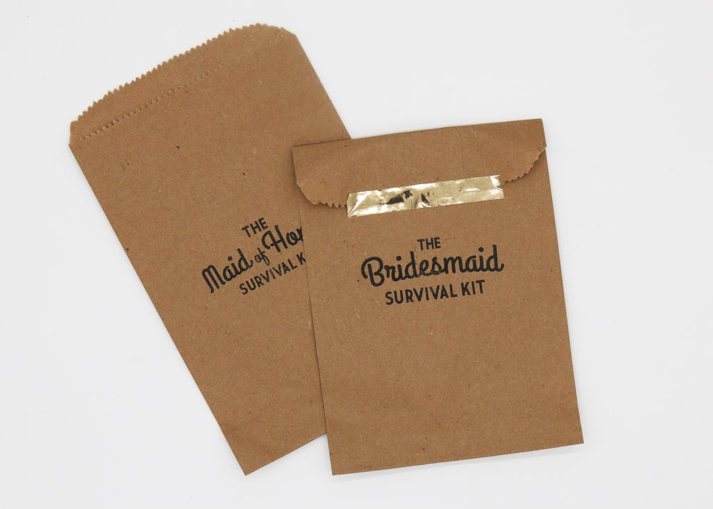 Image of The Bridesmaid Paper Bag Survival Kit