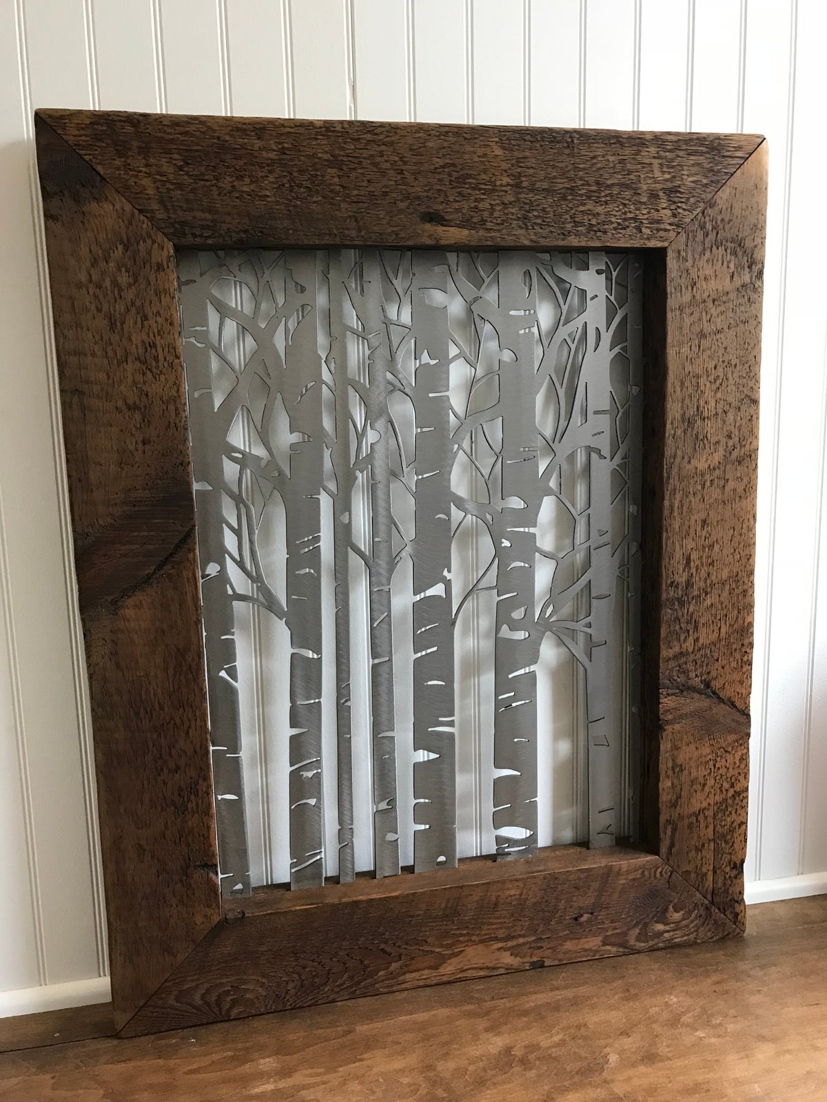 Birch Tree - Barnwood Frame