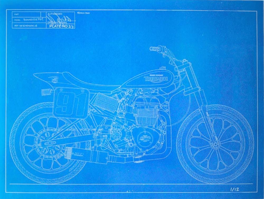 Image of 2014 Bonneville Performance Triumph print