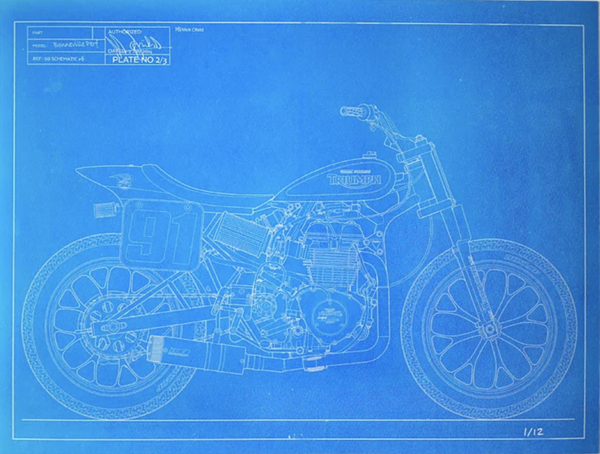 Image of 2014 Bonneville Performance Triumph blueprint
