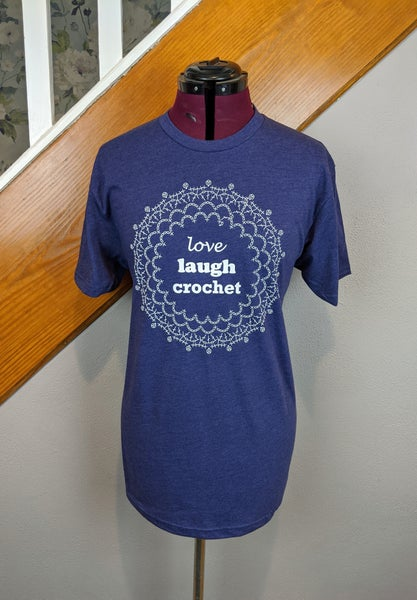 Image of Love Laugh Crochet Unisex Tshirt