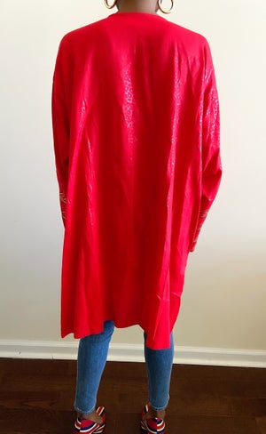 Image of Reconstructed Red Low-Cut Tunic (Fits Most)