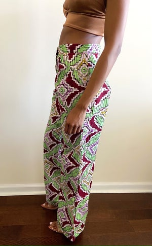 Image of Vintage Printed High Waist Pants - S