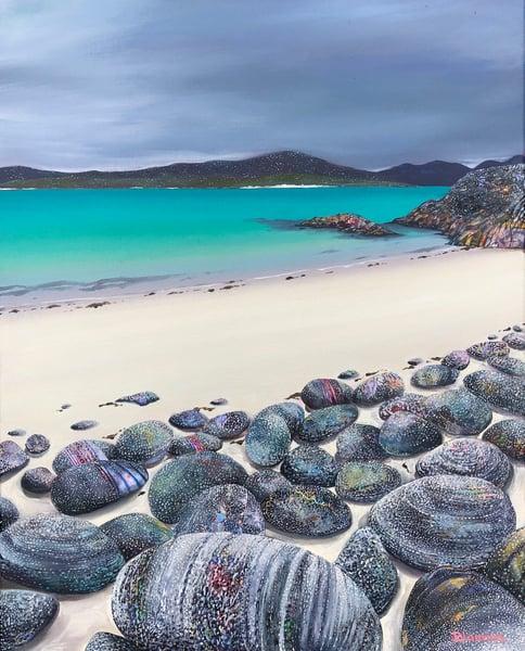Image of Harris rocks giclee print