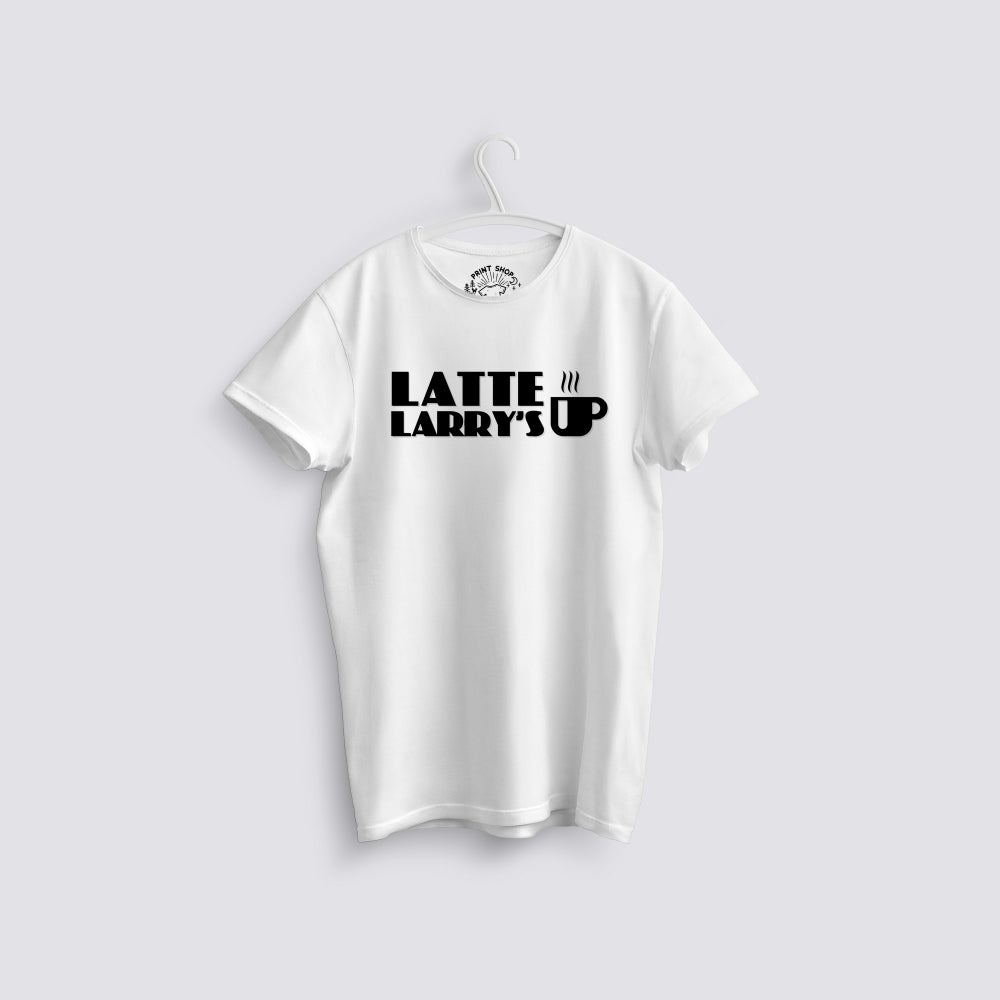 Image of Latte Larry's Curb Your Enthusiasm T-Shirt