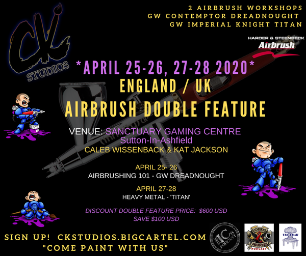 Image of ENGLAND Airbrush Double Feature, (DATES TBA)