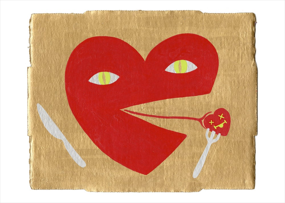 Image of Hungry Heart Dinnertime print