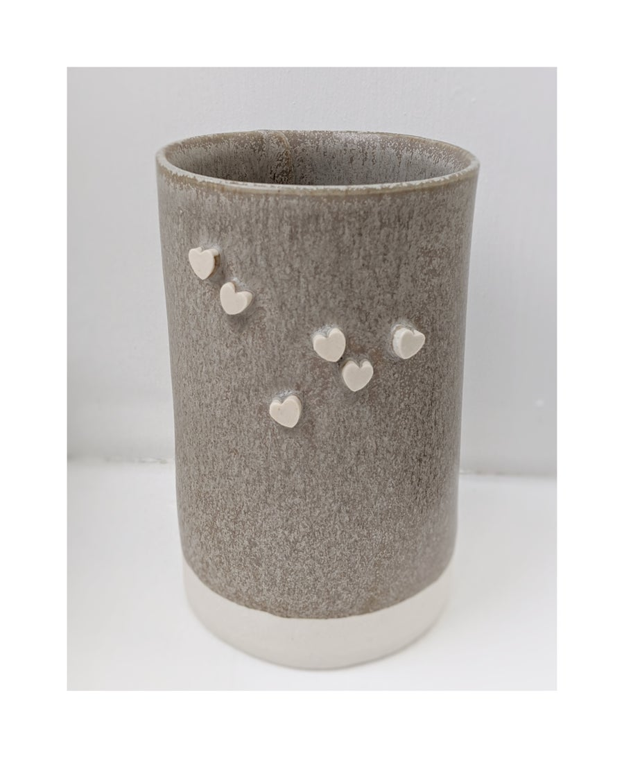 Image of Candy Heart Tall Tumbler - Grey
