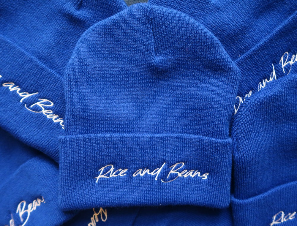 Image of Rice and Beans - Blue Beanie.