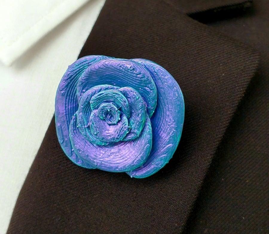 Image of Chameleon Flower Lapel Pin