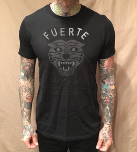 Image of EL FUERTE TIGER ON BLACK TEE