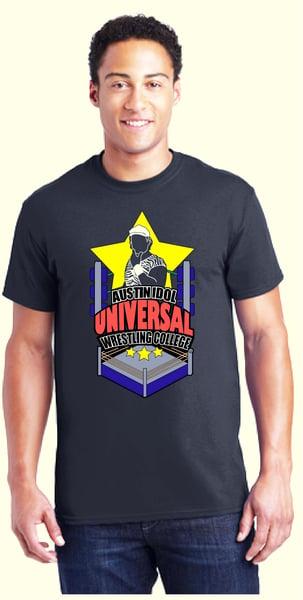 Image of Austin Idol's Universal Wrestling College Tee Shirt!