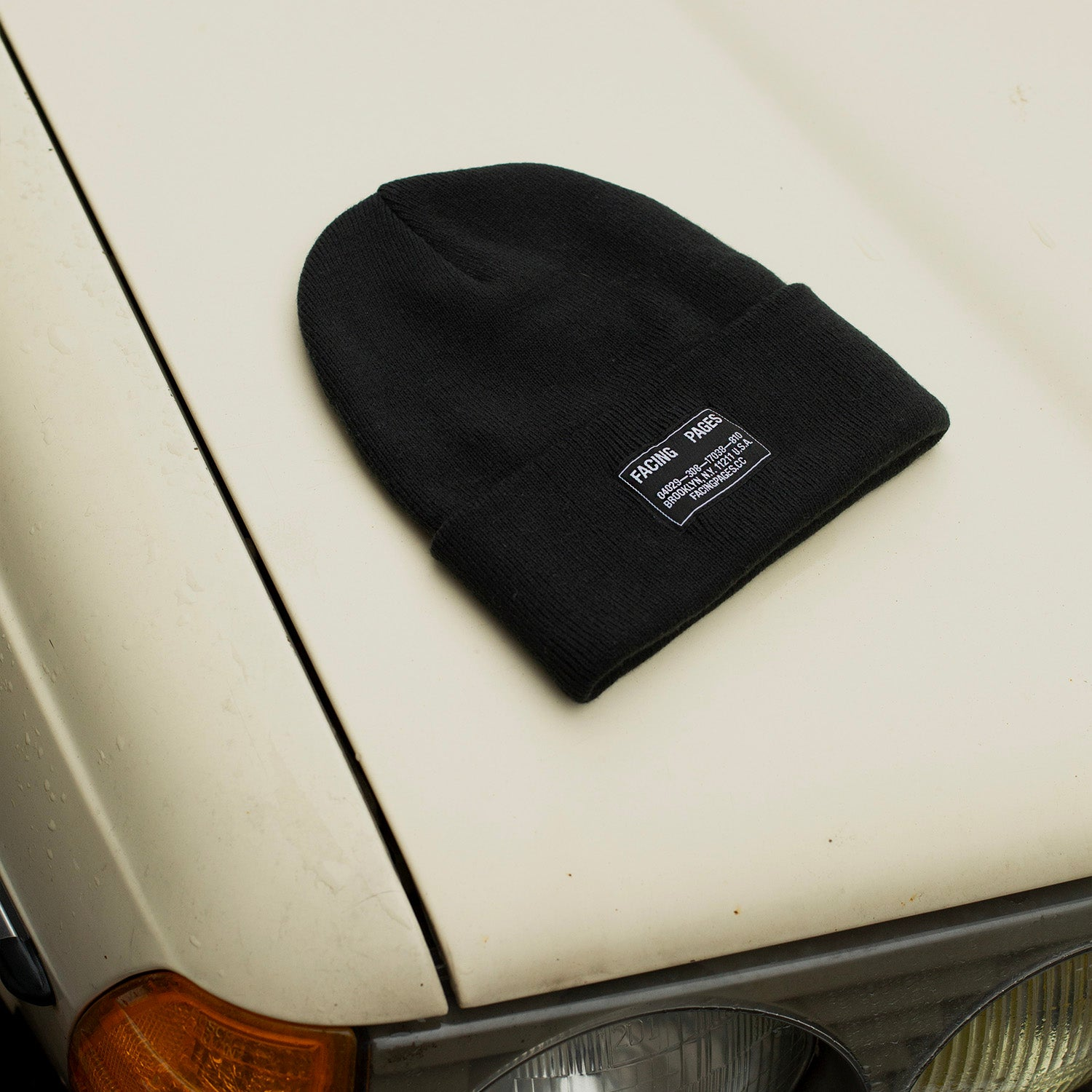 Image of KNIT CAP BEANIE, BLACK