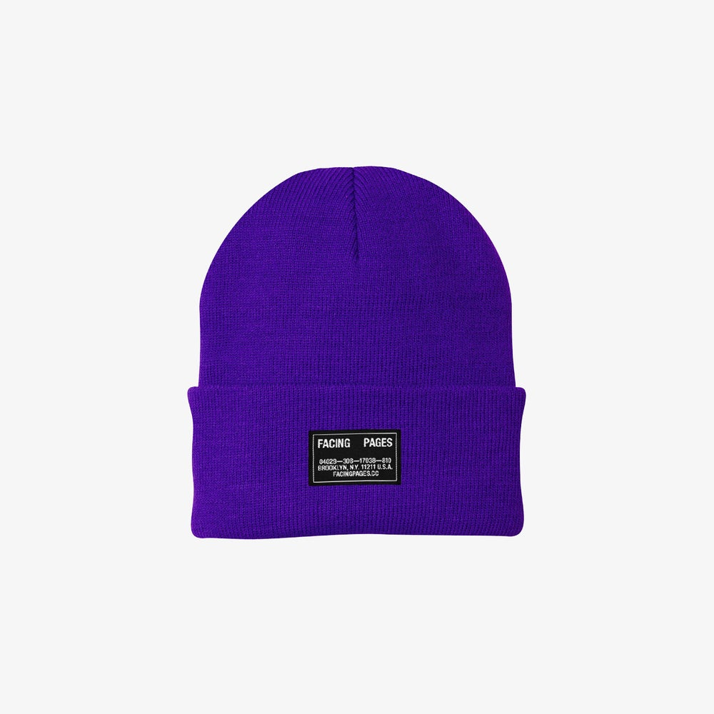 Image of KNIT CAP BEANIE, PURPLE