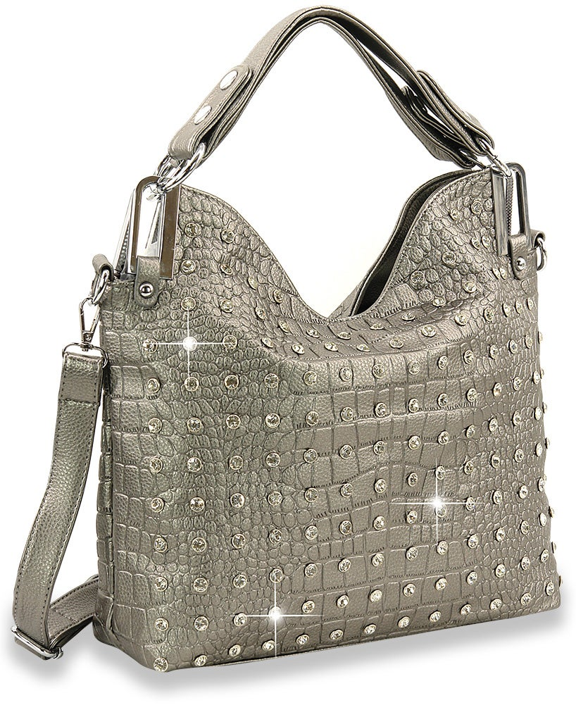 "Image of ""Sparkling"" Rhinestone Shoulder  Purse (3 Different Colors)"