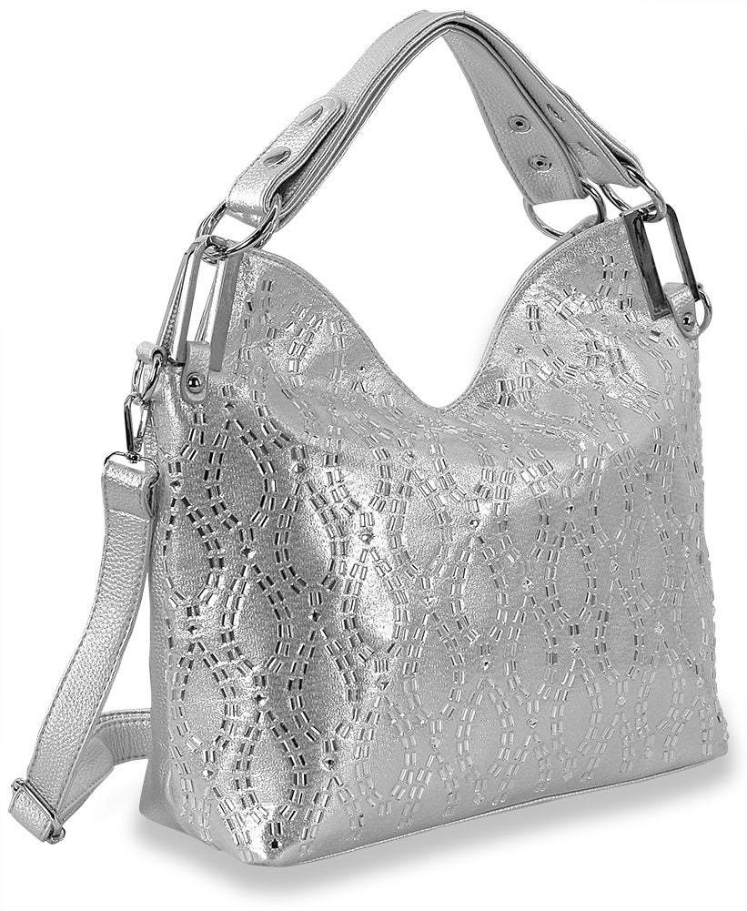 "Image of ""Sparkling"" Rhinestone Design Fashion Purse (2 Colors)"