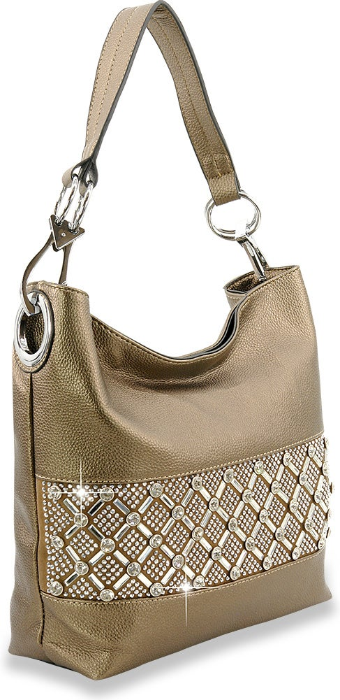 "Image of ""Sparkling"" Rhinestone Bling Design Hobo Purse"
