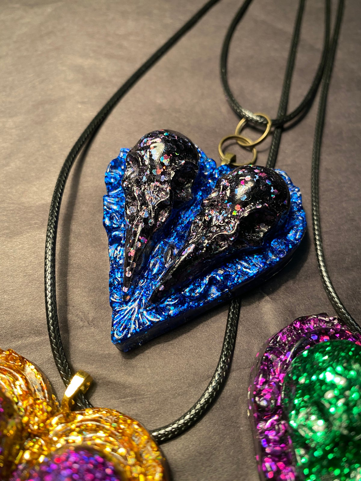 Image of Lovebird Heart necklaces