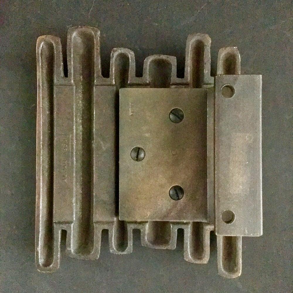 Image of Brutalist Bronze Door Handle, Mid-20th Century