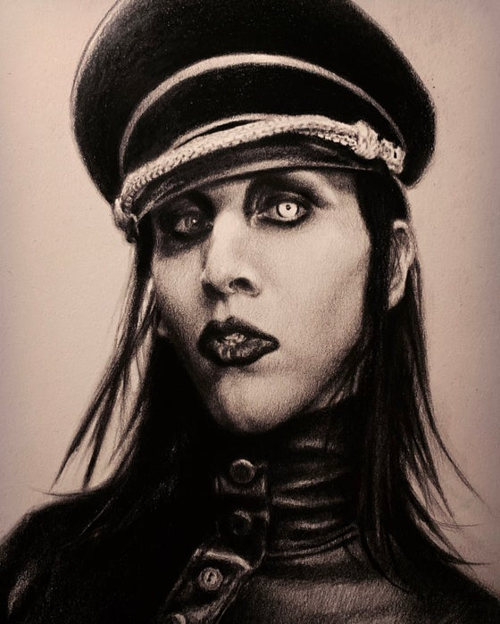 "Image of 'MARILYN MANSON' - 7 x 5"" - Valentine's Day Complimentary Open Edition Print"