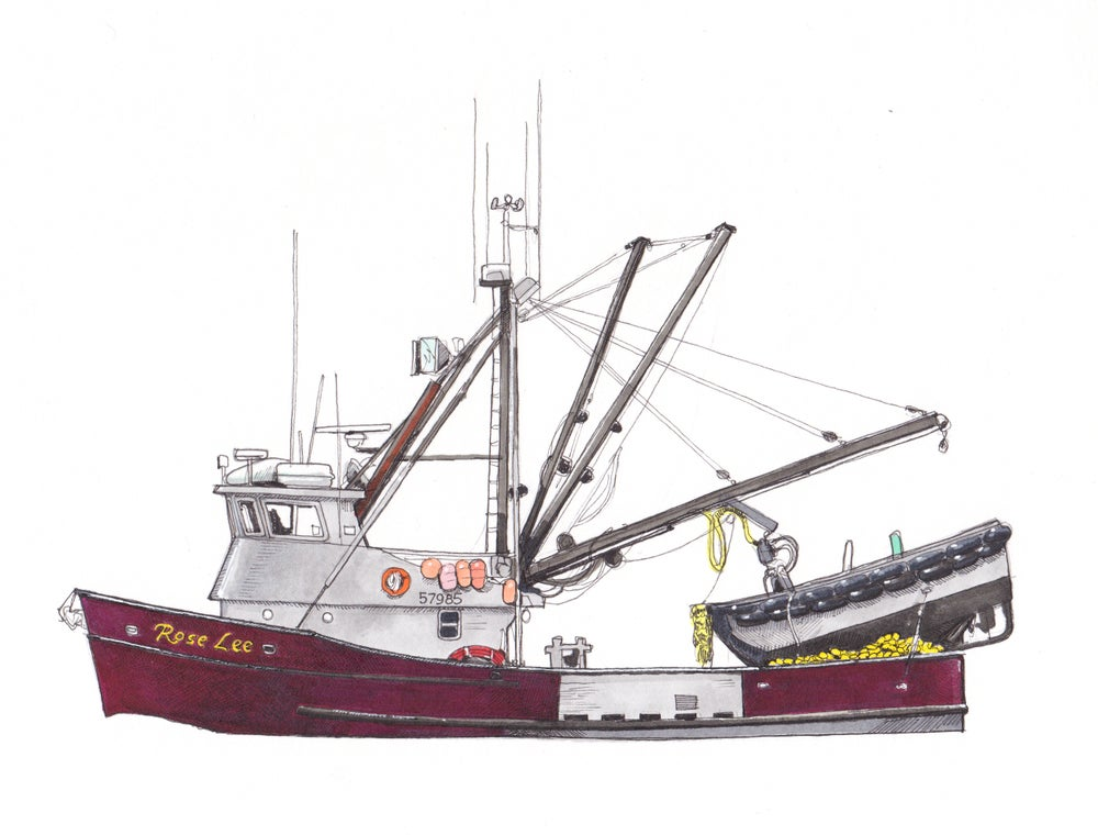 "Image of F/V Rose Lee 12"" X 9"""