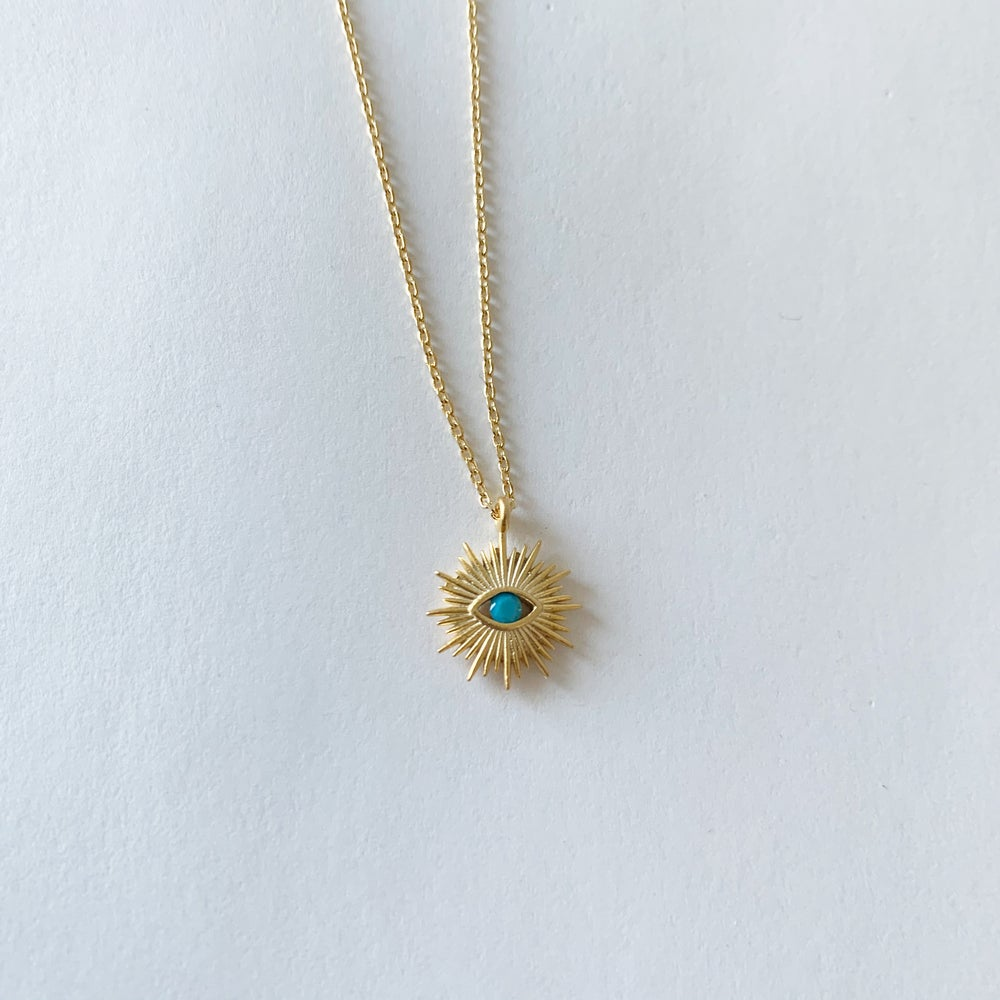 Image of Turquoise evil eye necklace