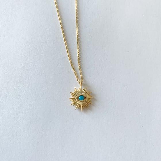 Image of Turquoise evil eye necklace