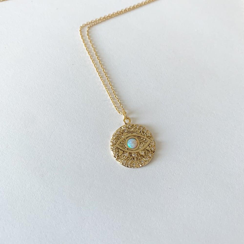 Image of Opal eye necklace